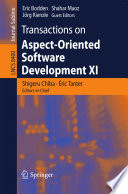 Transactions on Aspect Oriented Software Development XI