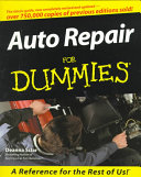 Auto Repair For Dummies Book