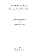 Herbert Hoover  President of the United States Book