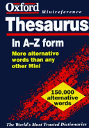 The Oxford Minireference Thesaurus
