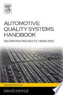 Automotive Quality Systems Handbook Book