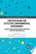 Participation for Effective Environmental Governance
