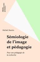 Pdf Sémiologie de l'image et pédagogie Telecharger
