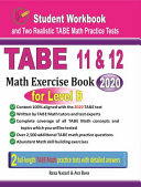 TABE 11 and 12 Math Exercise Book for Level D