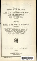 Report of the Federal Trade Commission on the Sale and Distribution of Milk and Milk Products