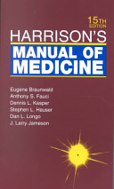 Cover of Harrison's Manual of Medicine