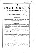 Pdf A Dictionary, English-Latin and Latin-English ... The second edition, enlarged