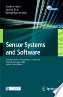 Sensor Systems And Software Book PDF