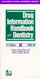 Drug Information Handbook for Dentistry, 1998-99