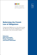 Pdf Reforming the French Law of Obligations Telecharger