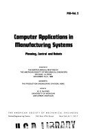 Computer Applications in Manufacturing Systems Book