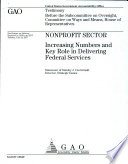 Nonprofit Sector Increasing Numbers And Key Role In Delivering Federal Services