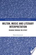 Milton  Music and Literary Interpretation