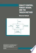 Quality Control  Robust Design  and the Taguchi Method