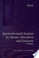 Spectrochemical Analysis By Atomic Absorption And Emission Book PDF