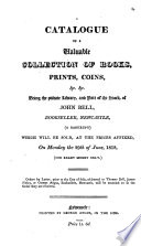 A Catalogue Of A Valuable Collection Of Books Prints Coins C C