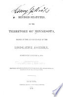 The Revised Statutes of the Territory of Minnesota