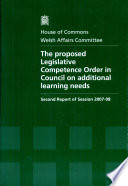The proposed Legislative Competence Order in Council on additional learning needs