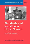Pdf Standards and Variation in Urban Speech