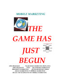 Pdf Mobile Marketing The Game Has Just Begun - simple business edition
