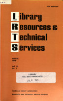 Library Resources Technical Services