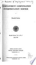 Unemployment Compensation Interpretation Service Book