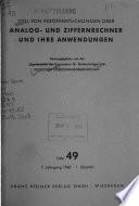 Titel von Veröffentlichungen Über Analog- und Ziffernrechner und Ihre Anwendungen