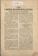 Upper Room Bulletin