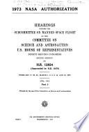 1973 NASA Authorization Book