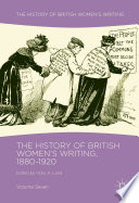 The History Of British Women S Writing 1880 1920