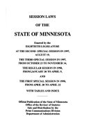 Session Laws Of The State Of Minnesota