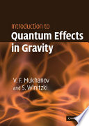 Introduction To Quantum Effects In Gravity Book PDF