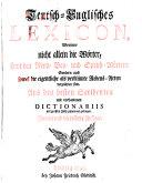 Teutsch englisches Lexicon  2  U  Verb  Aufl