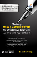 Mastering Essay   Answer Writing for UPSC Civil Services IAS  IPS   State PSC Main Exam