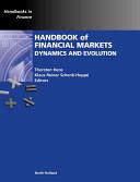 Handbook of Financial Markets