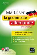 Pdf Maîtriser la grammaire allemande à l'écrit et à l'oral Telecharger