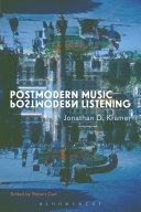 Postmodern Music, Postmodern Listening Pdf/ePub eBook