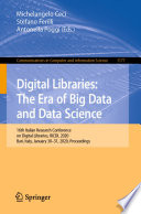 Digital Libraries  The Era of Big Data and Data Science