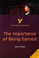 The Importance of Being Earnest  Oscar Wilde Book