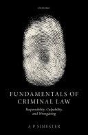 Fundamentals of Criminal Law