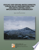 Geology and Ground-water Chemistry, Curlew Valley, Northwestern Utah and South-Central Idaho, Implications for Hydrogeology