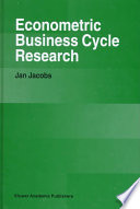 Econometric Business Cycle Research Book PDF