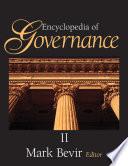 """Encyclopedia of Governance"" by Mark Bevir"