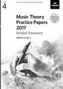 Music Theory Practice Papers 2017 Model Answers, ABRSM Grade 4