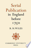 Serial Publication In England Before 1750 Book PDF