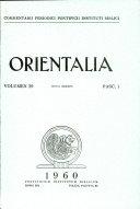 Orientalia: Vol. 29, No. 1 Pdf/ePub eBook