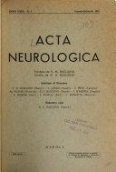 Acta Neurologica Book
