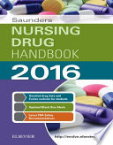 """Saunders Nursing Drug Handbook 2016 E-Book"" by Robert J. Kizior, Barbara B. Hodgson"