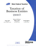 West Federal Taxation of Business Entities Professional Edition