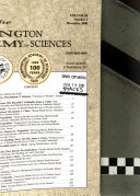Journal Of The Washington Academy Of Sciences Book PDF